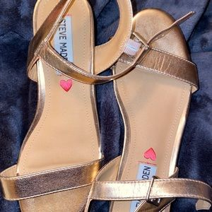 Steve Madden Shoes - GOLD STEVE MADDEN SANDALS